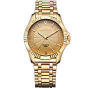 CHENXI® Golden Fashion Men's Watch Imitation Diamond Luxury Stainless Steel Quartz Gold Wrist Watch Cool Watch Unique Watch