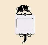 Недорогие -Животные Мода Отдых Наклейки Простые наклейки Декоративные наклейки на стены Наклейки для выключателя света, Бумага Украшение дома