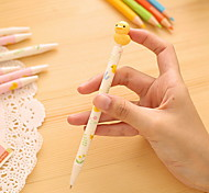 Yellow Duck Cartoon Blue Ink Ballpoint Pen 1 PCS