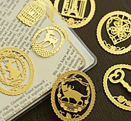 1PC Lovely Lace Creative Cartoon Animals Metal Bookmark Mini Hollow Out Bookmarks(Style random)