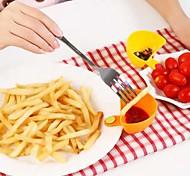 Недорогие -салат соусом кетчуп вареньем погружением клип чашки чаша блюдце посуда кухня (случайный цвет)