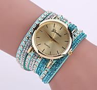 Women's Quartz Analog White Case Multilayer Leather Band Bracelet Wrist Fashion Watch Jewelry Cool Watches Unique Watches Strap Watch