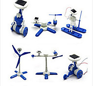 cheap -DIY 6 in 1 Solar Powered Gadgets For Boy Children Educational ABS White / Blue