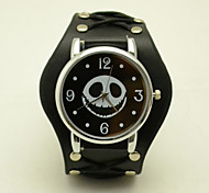 Unisex Fashion Watch The New Simple Smiley Skull Casual Personality Lace Belt Quartz Watch(Assorted Colors) Cool Watches Unique Watches
