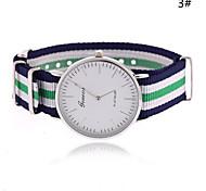Недорогие -Жен. Модные часы Кварцевый Горячая распродажа Материал Группа Полоски Разноцветный