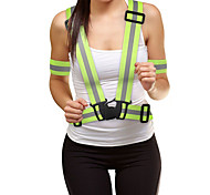Reflective Vest Reflective Running Vest Reflective Band Adjustable Elasticity Reflective Strips for Running