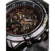 WINNER Masculino Relógio Esqueleto Relógio de Pulso relógio mecânico Automático - da corda automáticamenteImpermeável Gravação Oca