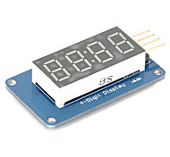 cheap -4 Bits Digital Tube LED Display Module with Clock Display TM1637 for Arduino Raspberry PI