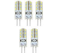 abordables -YWXLIGHT® 5pcs 1.5W 140 lm G4 Bombillas LED de Mazorca T 24*5 leds SMD 3014 Blanco Natural DC 12V