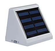 Solar Power Bright White Light with Motion Sensor Garden Outdoor Lamp with 4 LED for Stair