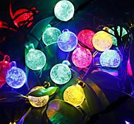 preiswerte -Leuchtgirlanden 30 LEDs Warmes Weiß RGB Weiß Lila Blau Wiederaufladbar Wasserfest 100-240V