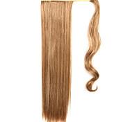золотой 60см синтетическая высокая температура проволоки парик прямые волосы конский хвост цвет 12/613