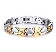 Men's Women's Chain Bracelet Heart Fashion Stainless Steel Heart Love Jewelry For Wedding Party Anniversary Birthday Gift Daily Sports