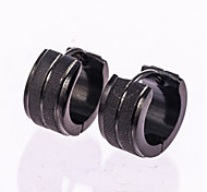cheap -Men's Rose Gold Sterling Silver Stud Earrings Hoop Earrings - For Wedding Party Daily Casual