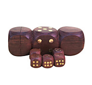 cheap -Royal St Selling Hua Limu Dice Points Completely Wood Material Inlaid Copper Nail Atmosphere 1 Set Of Dice 1.7 Cm