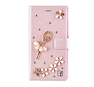 cheap -Case For Samsung Galaxy Samsung Galaxy Case Card Holder Rhinestone with Stand Flip Magnetic Full Body Cases Sexy Lady Hard PC for