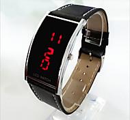 cheap -Men's Women's Couple's Digital Wrist Watch LED PU Band Charm Fashion Black