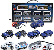 Dibang -0791 ten glide ratio of 1:87 alloy car model alloy mini police car combination package (2 setsPCS)