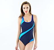 cheap -Women's Athletic Swimwear Quick Dry Compression Polyester One-piece Swimwear Swimming