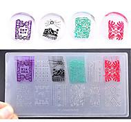 новый инженерно-пластические искусства ногтя шаблон конгрев окружающей среды поделки Лак для ногтей печати трафарет ногтевые пластины