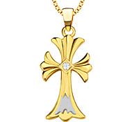 haute qualité croisée de la mode pendentifs femmes / hommes plaqué or 18k charme cadeau de bijoux colliers pendentifs p30097