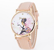 Women's Fashion Watch Casual Watch Casual Watch Quartz PU Band Butterfly Flower Black White Blue Red Brown Green Pink Rose Strap Watch