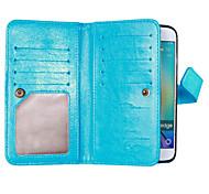 Para Samsung Galaxy S7 Edge Carcasa Funda Cartera Soporte de Coche con Soporte Flip Cuerpo Entero Funda Un Color Suave Cuero Sintético