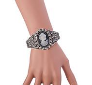 Vintage Antique Silver full Crystal Rhinestone Adjustable Bnagle Bracelet for Wedding Party Dance