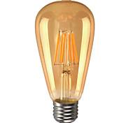 e26 / e27 llevó bulbos de globo st64 6 mazorca 600lm blanco cálido 2200k dimmable decorativo ca 110-130v