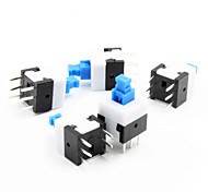 8 x 8mm Self-Locking Switch - Blue + White + Black (5 Piece Pack)