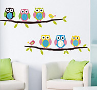 Removable owl Wall Sticker Environmental PVC Children's kids Room Bedroom Wall Stickers