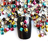 1 Pack Include 6 Mixed Colors Nail Art Square Glitter Riveting DIY Nail Art Decoration NC216