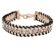 Bracelet/Chain Bracelets / Paracord Bracelet Alloy / Rhinestone Wedding / Party / Daily / Casual Jewelry GiftLight Blue / Rose / Beige /