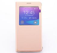 Недорогие -Для Samsung Galaxy Note со стендом / с окошком Кейс для Чехол Кейс для Один цвет Искусственная кожа Samsung Note 5