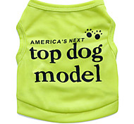 cheap -Cat Dog Shirt / T-Shirt Dog Clothes Fashion Floral / Botanical Rose Green Blue Pink Costume For Pets