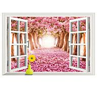 Пейзаж Наклейки Простые наклейки / 3D наклейки Декоративные наклейки на стены,PVC материал Съемная Украшение дома Наклейка на стену