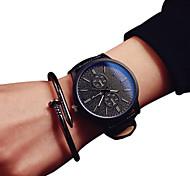 Недорогие -Для пары Кварцевый Модные часы Повседневные часы PU Группа Черный