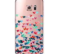 Für Samsung Galaxy S7 Edge Transparent / Muster Hülle Rückseitenabdeckung Hülle Herz Weich TPU SamsungS7 edge / S7 / S6 edge plus / S6
