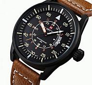 NAVIFORCE Men's Wrist watch Military Watch Sport Watch Japanese Quartz Calendar / date / day Water Resistant / Water Proof Noctilucent