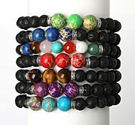 Beadia 1Pc Fashion Stone Bracelet Unsex Strand Bracelets