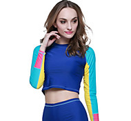 cheap -SBART Women's Diving Rash Guard Ultraviolet Resistant Compression Tactel Long Sleeves Top Diving Snorkeling