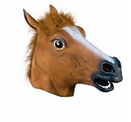 cheap -Full Head Mask Horse Head Mask Creepy Fur Mane Latex Realistic Crazy Rubber Super Creepy Party Halloween Costume Mask