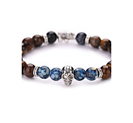 cheap -New Arrival Natural Skull Bracelet Tiger Stone  Beads Bracelet  #YMGS1021 Christmas Gifts