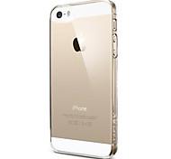 Недорогие -Для Кейс для iPhone 5 Ультратонкий / Прозрачный Кейс для Задняя крышка Кейс для Один цвет Мягкий TPU iPhone SE/5s/5