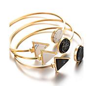 Недорогие -Жен. Браслет разомкнутое кольцо - Богемные Мода Геометрической формы Белый Черный Синий Черно-белый Браслеты Назначение Новогодние