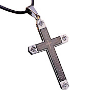 Men's Pendants Cross Titanium Steel Metal Fashion Cool Jewelry For Dailywear
