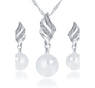 cheap -Women's Pearl Jewelry Set Earrings / Necklace - Imitation Pearl Silver / Golden Jewelry Set / Bridal Jewelry Sets For Wedding / Party /