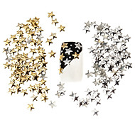 100шт лучшая цена комплект 5мм серебряные и золотые звезды металлические шпильки маникюр ногтей искусство 3D украшения