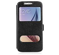 для Samsung Galaxy Note5 случае искусственная кожа флип крышка с двойным окном стенд Samsung Note5 примечание 4 3