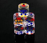 cheap -Dice Dices and Chips Toys Fun Convenient Multi Function Square Crystal PVC 10 Pieces Gift
